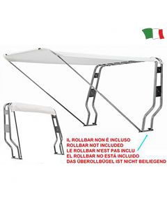 CAPOTTINA PARASOLE PER ROLL-BAR IN ACCIAIO INOX 316