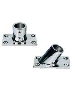 Base rettangolare in acciaio inox 90°
